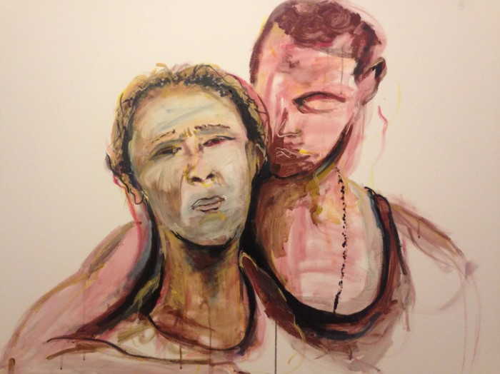 The parents of Mike Brown, December 2014, Acrylic, 4'x5'
